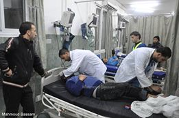 Some of today's injured being treated in Gaza