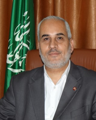 Hamas spokesperson Fawzi Barhoum in Gaza today
