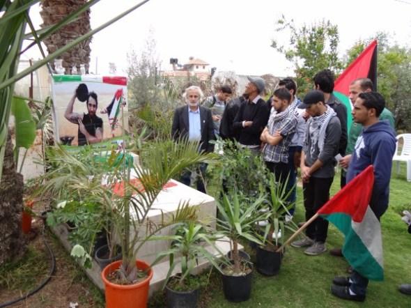 Memorial to Vittorio Arrigoni on Khan Younis farm