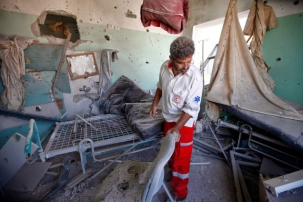 What is left of the emergency room at Al Aqsa hospital (MEE- Eloise Bollack)