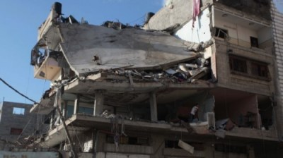 12 killed and 40 wounded when this Gaza City apartment block was targeted by an Israeli missile
