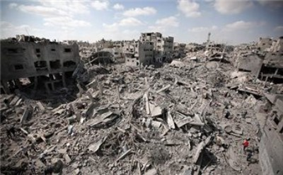 How many bodies still lie beneath Shujeiyah rubble?