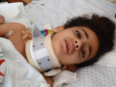 Mahar Hamid Sheikh-Khalil, 7 years old, from Shujeiyah