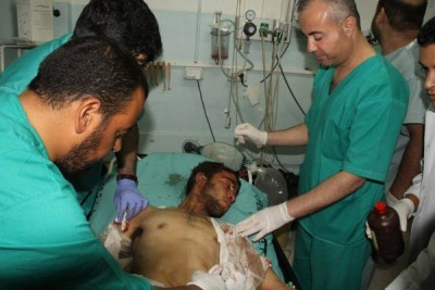 Gaza hospitals working with grossly inadequate resources