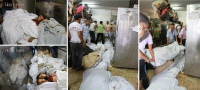 Shajaia martyrs filling the morgue