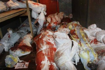 Dead bodies stacked in cold-store
