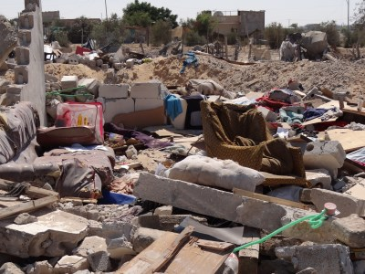 Destroyed houses in Rafah